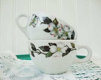 vintage dogwood flower cups shenango china tea or coffee restaurant ware