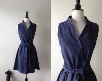 Denim Wrap Dress | 1970s