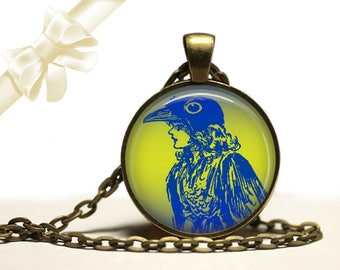 Crow Girl brass Pendant Necklace Free Shipping Gifts for her