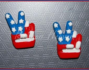 Peace Flag Hand 2 pcs