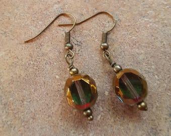 Glass earrings handmade