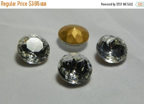50% OFF Vintage Czech Sparkling Crystal Round 14mm (ss60) Faceted Glass Stones (4)