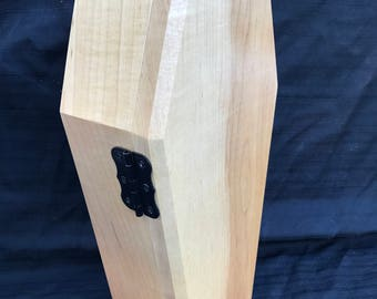 Coffin Jewelry Box Hard Maple