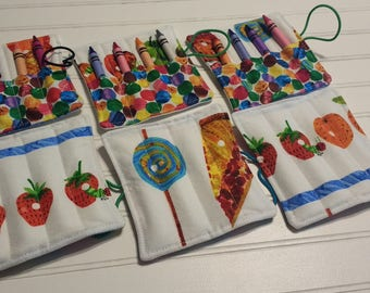 The Very Hungry Caterpillar - Mini Crayon Roll