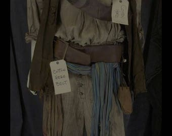 Custom Made 3pc. Jack Sparrow Renaissance Pirate vest shirt and pants from Pirates of the Caribbean