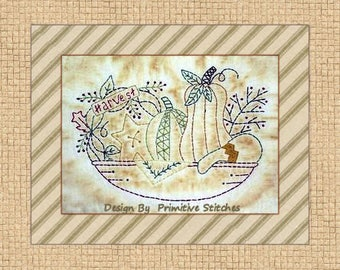Harvest-Primitive Stitchery  E-PATTERN by Primitive Stitches-Instant Download