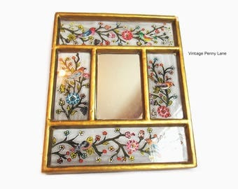 Vintage Handmade Decorative Mirror, Wall Hanging, Made in Peru