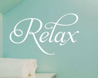 wall quotes relax bathroom spa salon vinyl wall quote wall decal