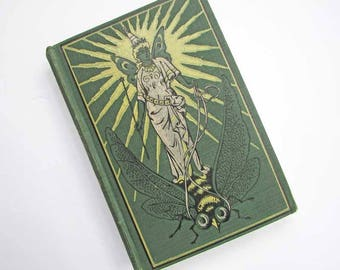 The Green Fairy Book by Andrew Lang Fairy Tale Book, 1920's A L Burt Co Publication, Illustrations, Pictorial Cover, Fairy Tale Stories