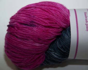 Hand-Dyed Yarn in Raspberry Noir Sock Yarn Merino/Cashmere/Nylon Lush Base