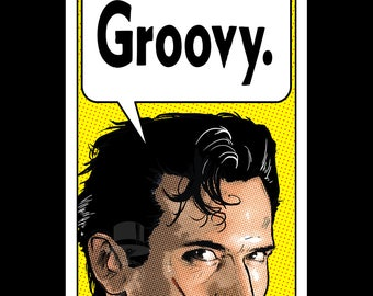 GROOVY - Pop Art Comic Book Print Inspired by Bruce Campbell and The Evil Dead