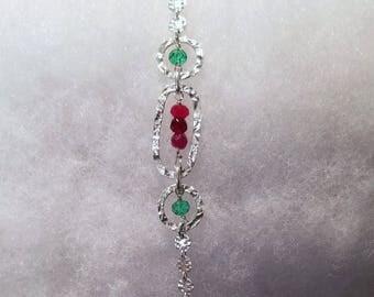 2601 Ruby, Green Sapphire, Sterling Silver Bracelet