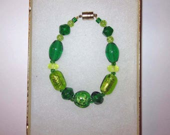 Emerald & bright light green bracelet