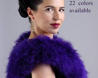 Promo Sale: Marabou Collar Wrap  Shrug 22 colors available