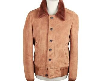 SCHIALLI VINTAGE Tan Suede SHEEPSKIN Jacket