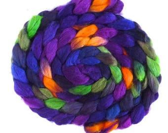 Maypop on Superwash BFL Wool/ Nylon - Hand Painted Spinning or Felting Fiber