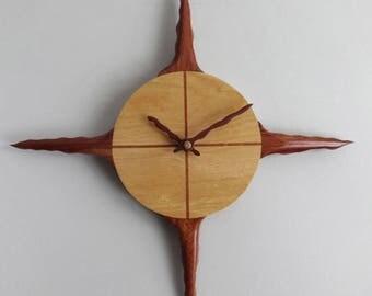 Handmade, Hardwood, Sun Clock