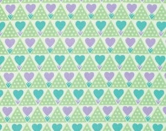 Clearance 1/2 yard Hearts Flannel Anna Maria Horner Pretty Potent Family Unit Lavender for Free Spirit Fabrics