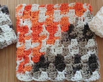 Crochet Dish Cloth Set, Wash Cloth Set.