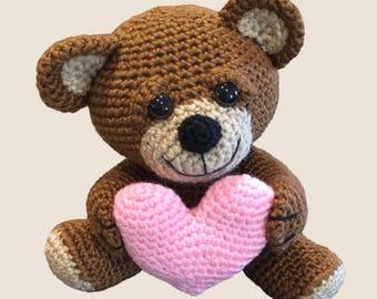 VALENTINE BEAR PDF crochet pattern
