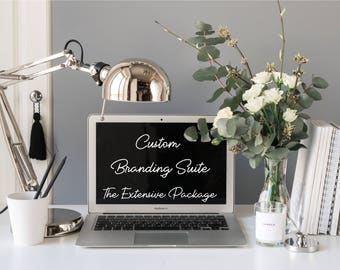 """Custom Branding Suite """"The Extensive Package"""" - Logo Design - Small Business Tools - Facebook Cover Design - Business Cards - Branding Kit"""