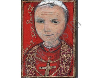 Saint John Paul II  - Reproduction from Painting by FLOR LARIOS (5 x 7 inches Print)
