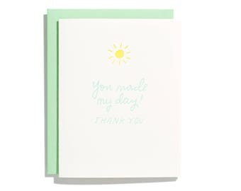 Made My Day Thanks - Letterpress Thank You Card - CT226