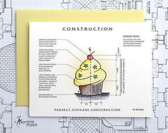 Project Cupcake (Yellow) Construction - Instant Download Printable Art - Construction Series