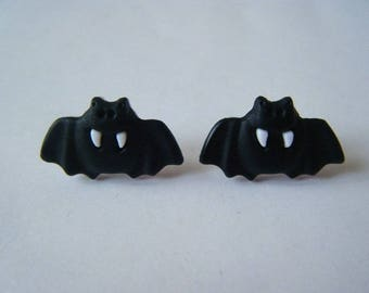 Earrings ♥ ♥ black bat