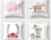 Set of 4 Derby Pillows, R...
