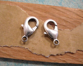 Lobster Clasp 15mm in Antique Silver from Nunn Design - 2 Count