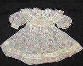 Vintage Organdy Doll Dress