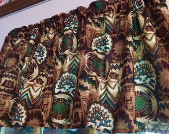 SouthWestern Baskets Window Curtain Valance HaNdMaDe from  Cotton Fabric