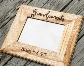 Grandparents picture frame - picture frame - photo frame - rustic home decor - personalized frame - custom picture frame- cousin frame