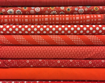 Quilt Sandwich's Color Pack - 10 Fat Quarters - Red