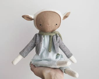 "SALE the foundlings | handmade cloth lamb doll | ""aster"""