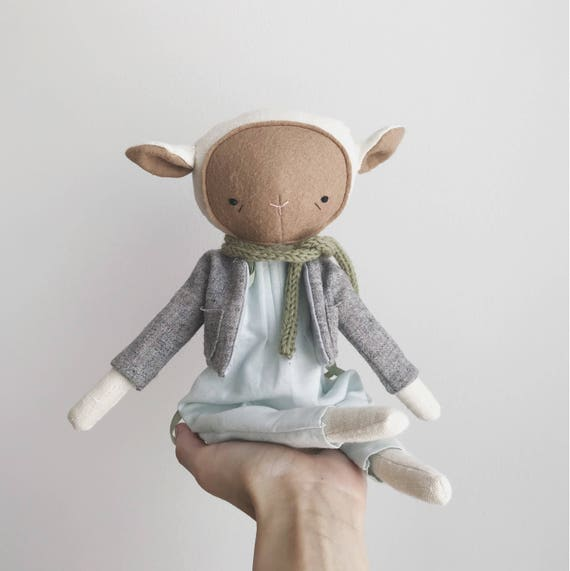 """SALE the foundlings   handmade cloth lamb doll   """"aster"""""""