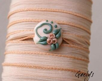 Zephanora - Bracelet ruban / Collier / Bandeau verre et soie -  Gaelys