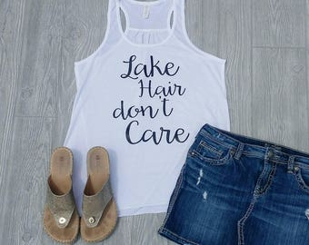 Lake Hair don't care - Womens Tank Top - White