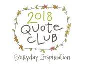 Quote of the Month Subscription: Handwritten Quotations, 4x6, Everyday Inspiration, Snail Mail