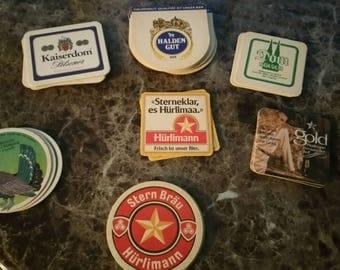 Vintage coasters:set of 26 total, various German beer companies.
