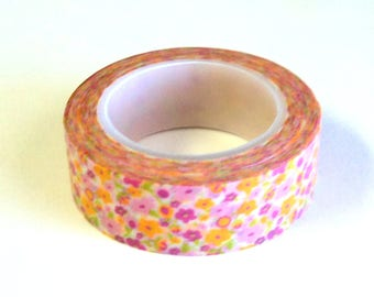 Washi Tape, Groovy Flowers, Love My Tapes Brand, 15mm x 10m (over 32 ft.) Takuniquedesigns