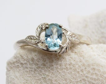 Sterling Blue Ring Dainty Jewelry R8015