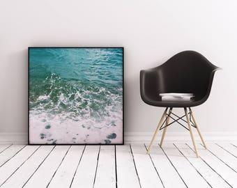 Ocean Print, Sea Wall Art, Blue and White Art Print - Deep Blue Sea