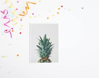 Pineapple Greetings Card, Retro Birthday Card, Anniversary - Pineapple Top