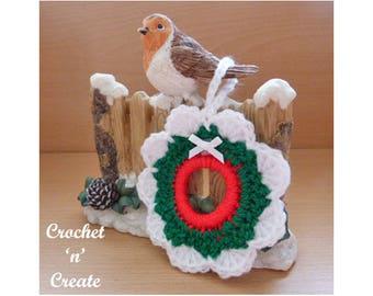 Christmas Tree Wreath Crochet Pattern (DOWNLOAD) CNC81