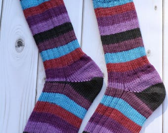 Handmade Knit Socks, Size: Medium-US