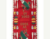 ON SALE Vintage Towel Cool as a Cucumber