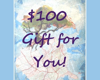 Gift Certificate for 100 Dollars to Life Needs Art - INSTANT DOWNLOAD, Printable Gift Certificate, Gift Card, Hudson Ohio