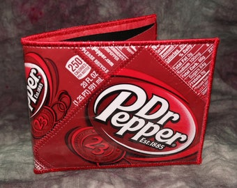 Bi-Fold Wallet from Recycled Dr Pepper Soda Bottle Wrappers